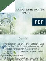 Perdarahan Ante Partum (PAP) Dr Yun