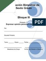 6to Grado - Bloque 3 - Proyecto_1