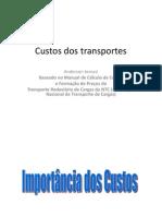Custos Dos Transportes