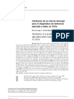 Validacion Mmse en Chile