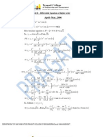 Solutions of previous years Unit 2,3 and5 for II semester CSVTU (Mathematics)