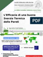 Strategie Per Un Involucro Edilizio Sostenibile - Efficacia Buona Inerzia Termica Pareti