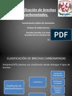 Clasificación de brechas carbonatadas