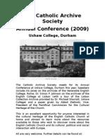 The Catholic Archive Society