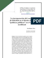 La incorporación de la felicidad en la politica publica neoliberal chilena
