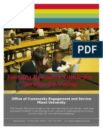 faculty resource guide for service-learning-062811-ces