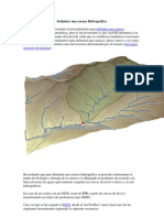 Delimitar una cuenca Hidrográfica