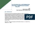 Metodologias Utilizadas en La Determinacion de La Pigmentacion y Pigmentos en Tejidos Pellets