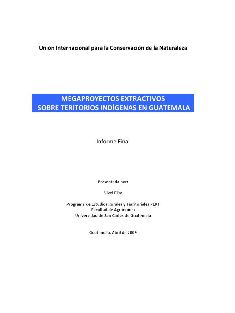 Megaproyectos Extractivos Sobre Territorios Indígenas en Guatemala ...