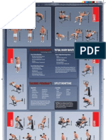 Dumbbell Exercise Poster 11X17 High Res