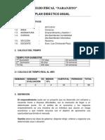 Planificación Emprendimiento y gestión