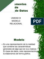 FBD - Unidad III - Modelo Relacional