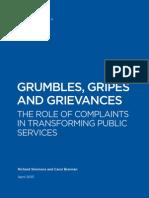 Grumbles Gripes and Grievances