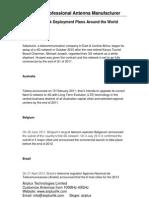 4G Network Deployment Plans Around the World