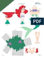 Ariel Papercraft Printable 0210