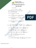 II sem (csvtu) Mathematics Unit 2 (Linear Differential Equation )Solustions