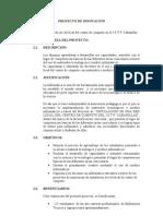 PROYECTO DE INNOVACIÓN 01