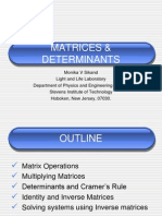 Matrices Determinants MS