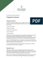 2014 Rolex Awards for Enterprise Pre-Application Package 10pg