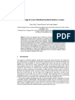 Design of Secure Distributed Medical Database Systems