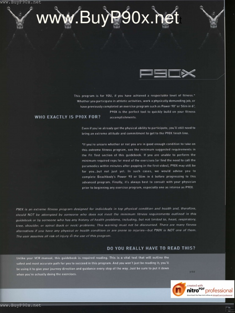 p90x fitness guide muscle hypertrophy musculoskeletal system rh es scribd com P90X Workout Routine P90X Chest and Back