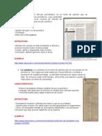 Informe Columna, Editorial, Carta Al Director y Articulo