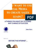 So you want to use Social Media to create sales leads?