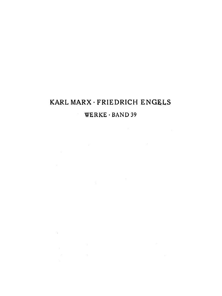 Marx - Engels - Werke 39