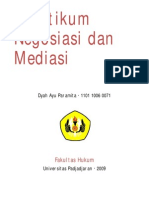 Praktikum Negosiasi dan Mediasi