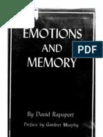 David Rapaport--Emotions and Memory (1)