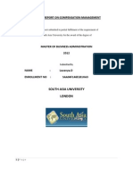 Project Report on Compensation-Management, Case Study Have Tobe Included