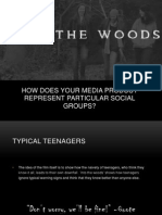 How does your media product represent particular social group