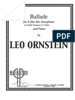 Leo Ornstein - Ballade for E Flat Alto Saxophone and Piano