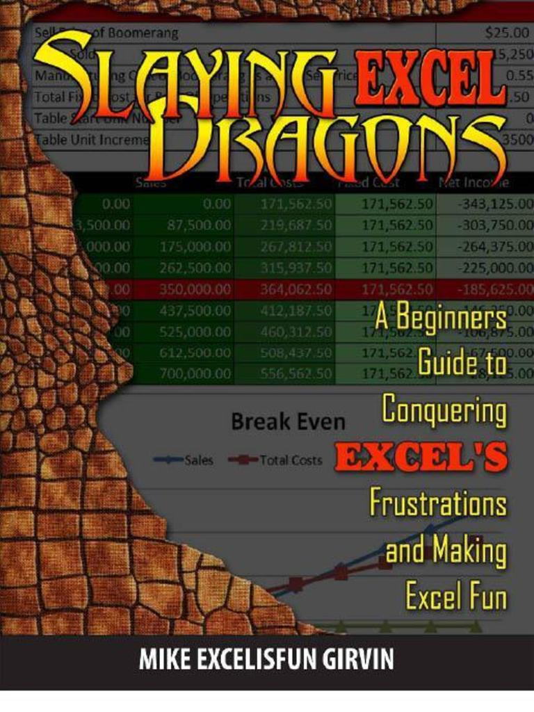 Slaying Excel Dragons A Beginners Guide To Conquering Excel S