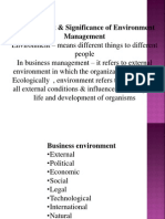 Environment Significance of Environment Management