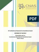 Informe 2 - IX Conferência Nacional_