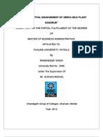 project report on verka plant sangrur