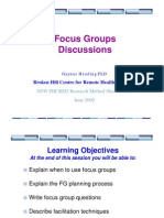 Focus Groups Gaynor Heading