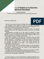 ROGER BONNARD - El Derecho y El Estado en La Doctrina Nacional-Socialista