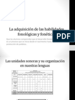 La Adquisicic3b3n de Las Habilidades Fonolc3b3gicas y Fonc3a9ticas