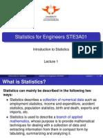 Ste3a01 - Lecture 1