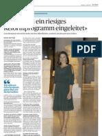 Συνέντευξη Υπουργού Τουρισμού Όλγας Κεφαλογιάννη στην Ελβετική DerBund