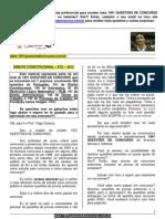 QUESTÕES DE CONCURSO - DIREITO CONSTITUCIONAL - FCC - 2012