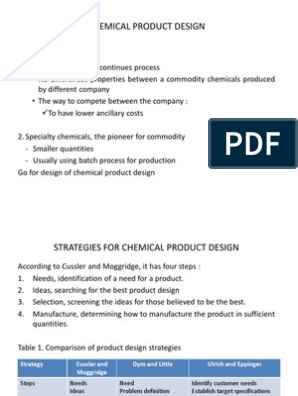 Chemical Product Design | Product Design | Fine Chemical