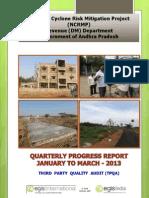 Quarterly Progress Report - Jan-March 2013