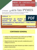 Contabilidad de Grupos Empresariales NIIF-PYMES y Aspectos Legales