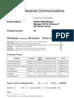 ReleaseNote HiPath3000 Manager V8 HA680B.50.207