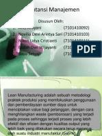 Lean Manufacturing, Lean Accounting, Biaya Target, dan Balance Score Card