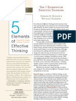 Burger 5 Elements of Effective Thinking