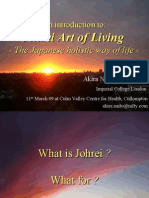 Introduction to the Johrei Art of Living at the Culm Valley Integtated Centre for Health, March '09